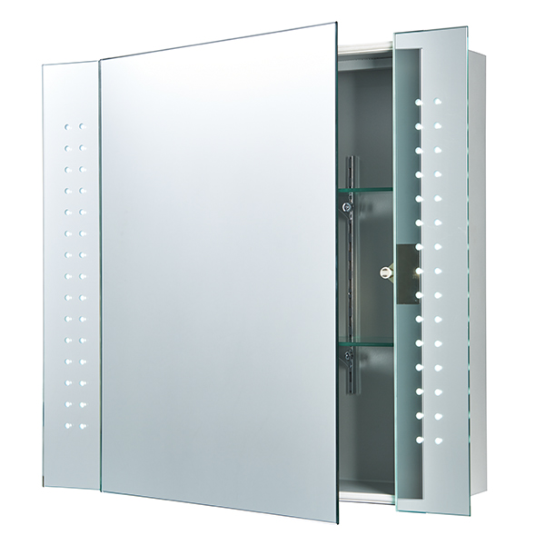 Revelo shaver cabinet mirror ip44 51w sw mozeypictures Choice Image